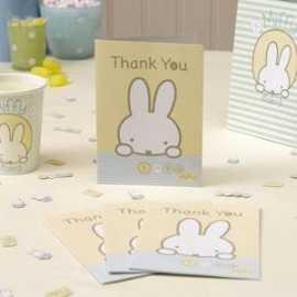 8 Cartes de Remerciements Baby Miffy