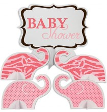 Centres de Table Baby Shower Safari Rose