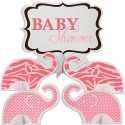 Centres de Table Baby Shower Safari Rose