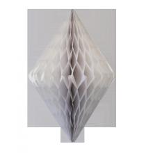 Losange Papier Alvéolé Blanc 30cm à l'unité