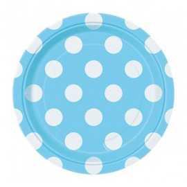Petites Assiettes Papier Pois Bleu