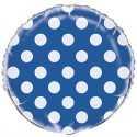 Ballon Alu Pois Bleu Foncé