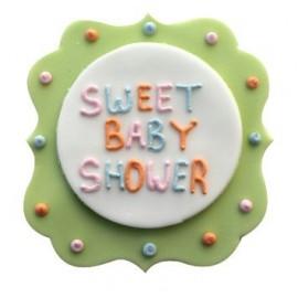 Plaque en sucre sweet baby shower d coration g teau de f te - Decoration pour baby shower ...