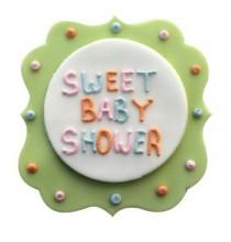 Plaque en Sucre Sweet Baby Shower Décoration pour Gâteau