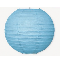 Boule de Papier Bleu Clair Lanterne 25 cm