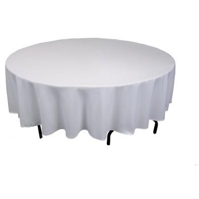 Nappe Plastique Grise Uni Lavable Pour Votre Fete Pour Une Table Ronde