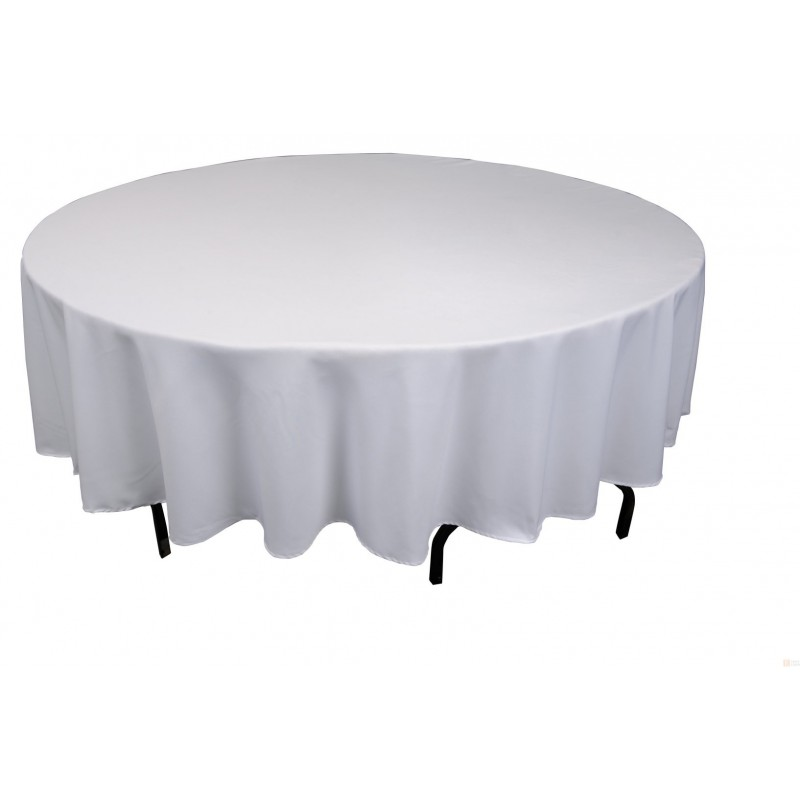 nappe plastique grise uni lavable pour votre f te pour une table ronde. Black Bedroom Furniture Sets. Home Design Ideas