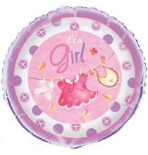 Grand Ballon Alu Hélium It's a Girl C'est une Fille