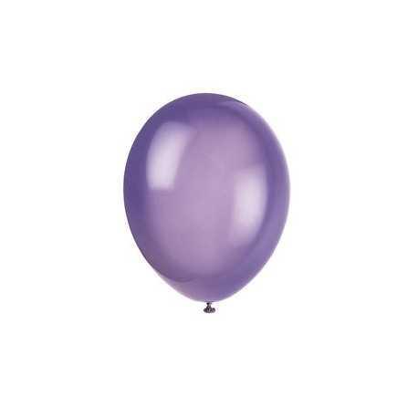 10 Ballons Gonflables Latex Violet Fête