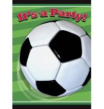Invitation Anniversaire Thème Football Ballon de Foot