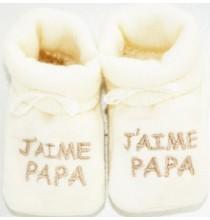 Chaussons bébé J'aime Papa