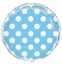 Ballon Alu à Pois Bleu Clair