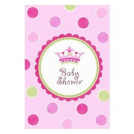 8 Invitations Baby Shower Thème Petite Princesse + Enveloppe et Stickers