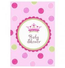 Invitation Baby Shower Thème Petite Princesse + Enveloppe et Stickers