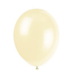10 Ballons Gonflables Latex Crème Fête