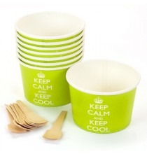 Bols de présentation - glaces, bonbons, gourmandises Keep Calm and Keep Cool