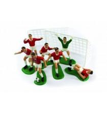 Kit Premium Décoration pour Gâteau Anniversaire Football Equipe Rouge
