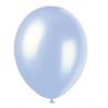 10 Ballons Gonflables Latex Bleu Nacrés Fête