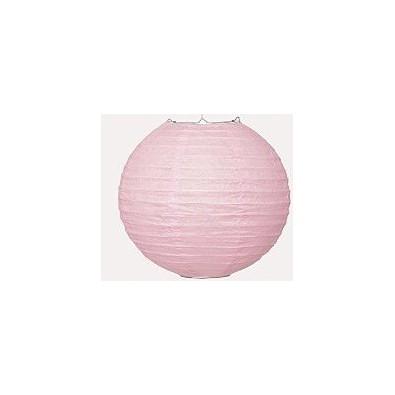 Boule de Papier Rose Clair Lanterne 25 cm