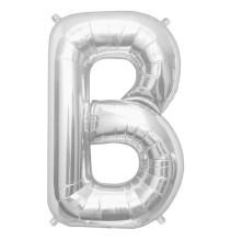Ballon 1 mètre A Alu Lettre Gris Argent Mylar
