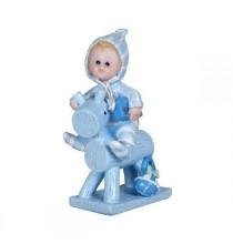 Figurine bleue Cheval de bois