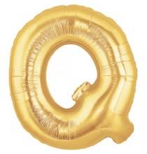 Ballon 36cm Q Alu Lettre Or Doré Mylar