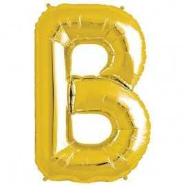 Ballon 1 mètre B Alu Lettre Dorée Mylar