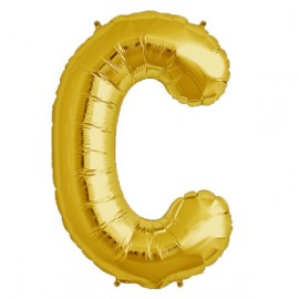 Ballon 1 mètre C Alu Lettre Dorée Mylar