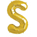 Ballon 1 mètre S Alu Lettre Dorée Mylar