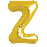 Ballon 1 mètre Z Alu Lettre Dorée Mylar