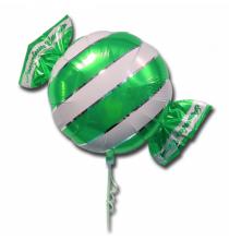 Ballon Géant en forme de Bonbon Rayé Vert et blanc