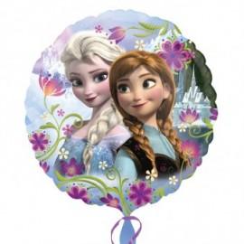 Ballon Rond Reine des Neiges Disney pour Anniversaire et Fête Elsa et Anna