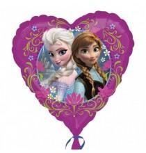 Ballon Coeur Reine des Neiges Disney pour Anniversaire et Fête Elsa et Anna
