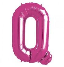 Ballon 1 mètre Q Alu Lettre Rose Fushia Mylar