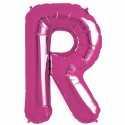Ballon 1 mètre R Alu Lettre Rose Fushia Mylar