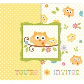8 Invitations Sweet Baby Shower + Enveloppe