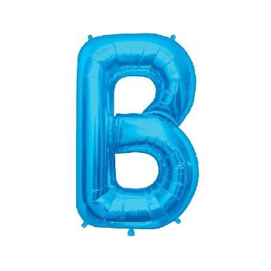 Ballon lettre bleu un m tre b pour d coration de f te mylar for Bb shop