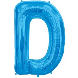 Ballon 1 mètre D Alu Lettre Bleu Mylar