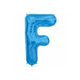 Ballon 1 mètre F Alu Lettre Bleu Mylar