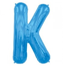 Ballon 1 mètre K Alu Lettre Bleu
