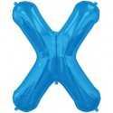 Ballon 1 mètre X Alu Lettre Bleu