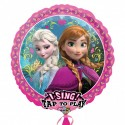 Ballon Qui Chante Reine des Neiges Disney pour Anniversaire et Fête Elsa et Anna