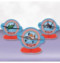 3 Centres de Table Anniversaire Planes Disney Avion Décoration