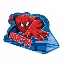 Invitation Spiderman et enveloppe rouge