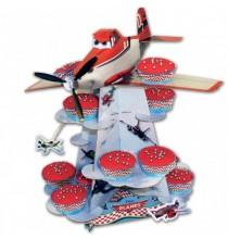 Stand à Gâteaux et Cup cakes Planes Disney Avion Joyeux Anniversaire