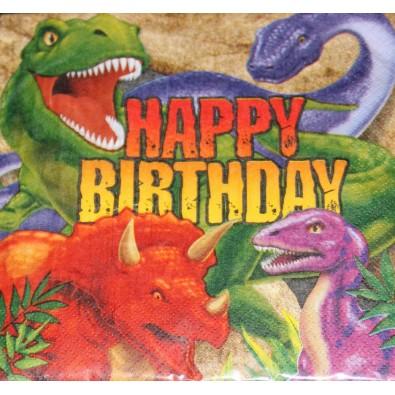 Serviettes Dinosaure Tyrannosaure Anniversaire pour Enfant