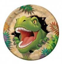 Grandes Assiettes Dinosaure Tyrannosaure Anniversaire pour Enfant