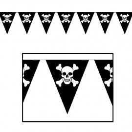 Banderole à fanions Anniversaire Chasse aux Trésors de pirates