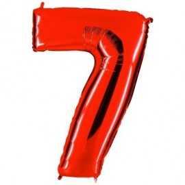 Ballon Géant Alu Rouge Chiffre 7 Ans Fête d'Anniversaire enfant
