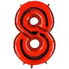 Ballon Géant Alu Rouge Chiffre 8 Ans Fête d'Anniversaire enfant